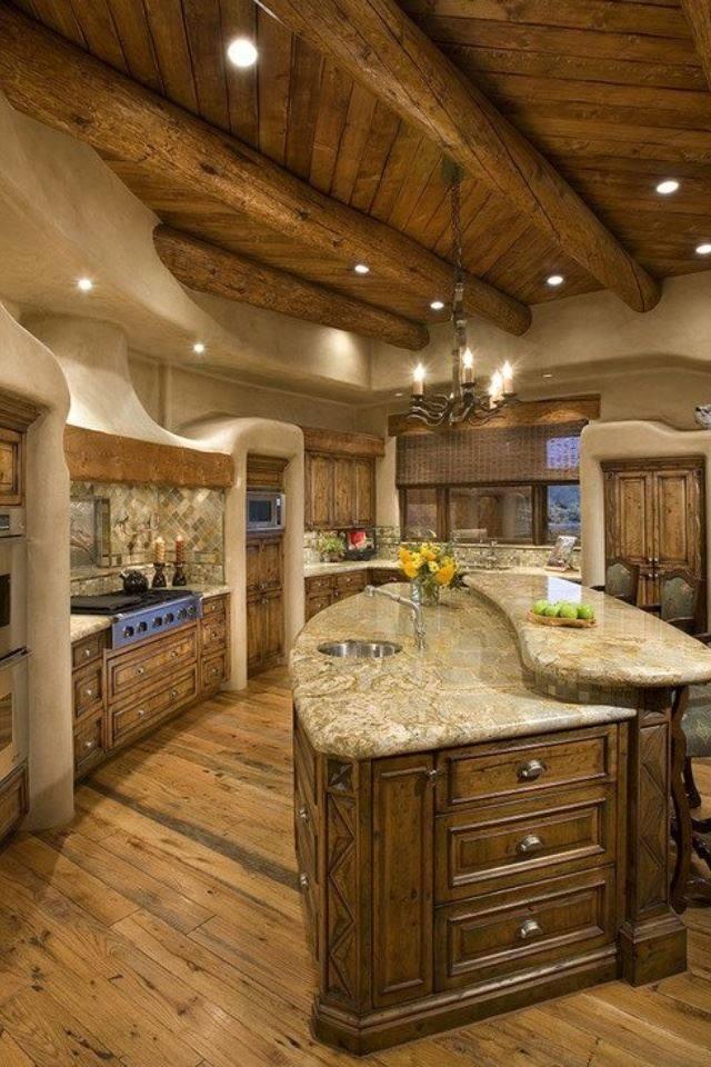 Kuchnia z drewna elegancka