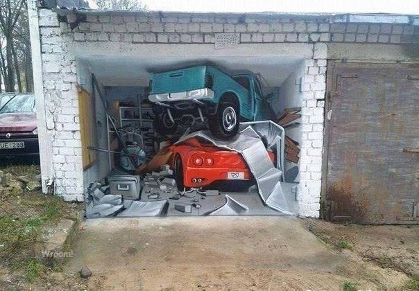 garaże fototapety