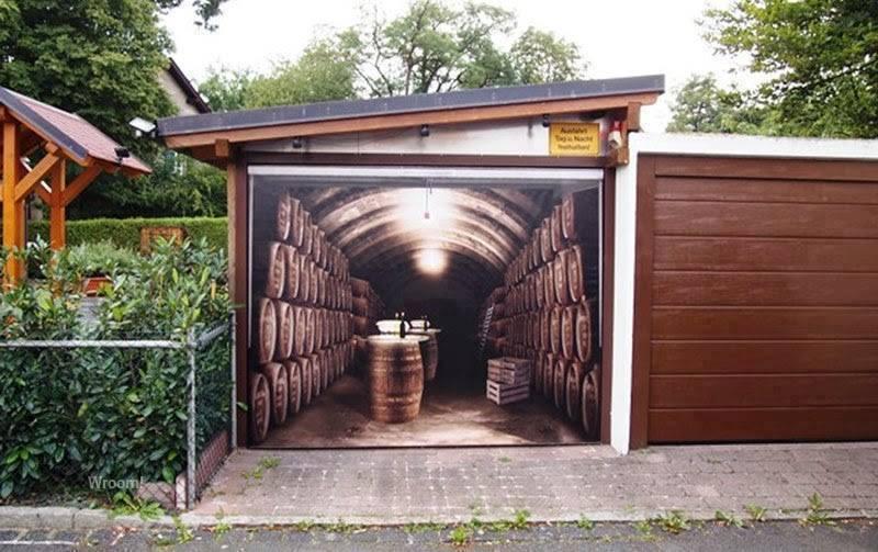 Zdjęcie na bramie garażowej