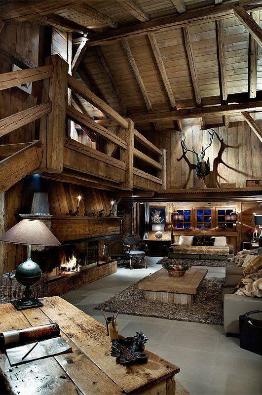 Salon w drewnie - mysliwy